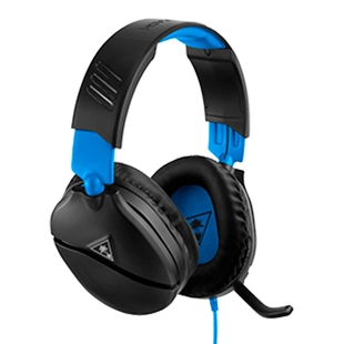 Audífonos de Diadema TURTLE BEACH Alámbricos Over Ear Recon 70P Gaming Negro/Azul para PS4, XBOX, Nintendo Switch, PC y móviles