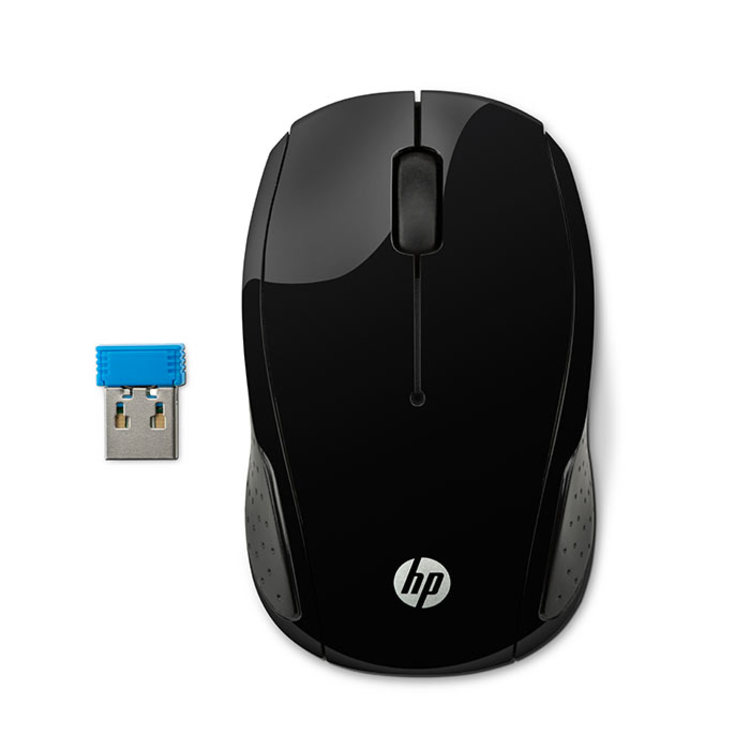 """Mouse HP Inalámbrico Optico 200-Negro - """